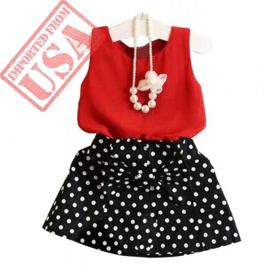 Elevin(TM) Toddler Kids Baby Girl Tutu Skirt Summer Dot Pleated Party Dresses Vest Sundress