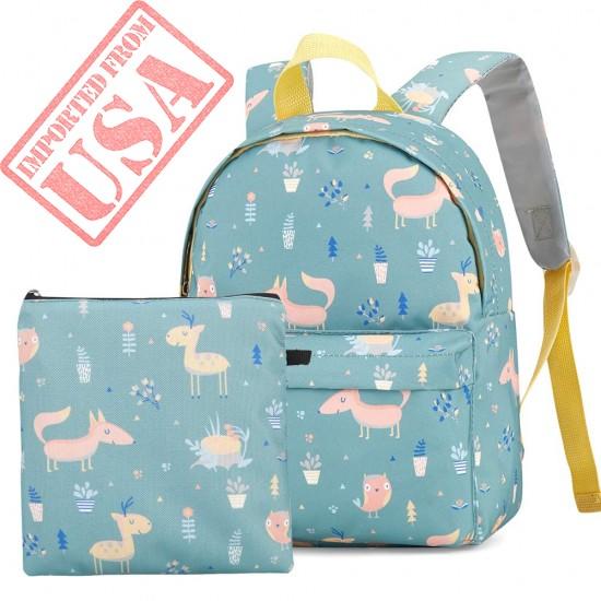 Coolloog Kids Toddler Backpack Pre-School Kindergarten Bag with Adjustable Padded Shoulder for Travel, Olive Kids Design – Trains, Planes, Trucks(11.3 x 3.75 x 8.6in)
