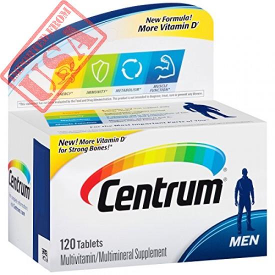 Buy American Centrum Men Multivitamin D3 Multiminerals Supplement Tablet in Pakistan